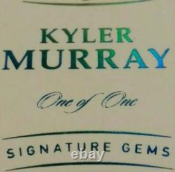 1/1 RC AUTO KYLER MURRAY NFL SHIELD ROOKIE DIAMOND, RUBY, SAPPHIRE 2019 Flawless