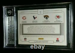 1/1 RC PATRICK MAHOMES II NFL SHIELD BGS 9 ROOKIE PATCH 2017 National Treasures