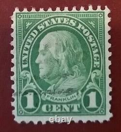 1 cent Franklin. Zähung 11. Perf 11 at Top and Bottom. Well centered