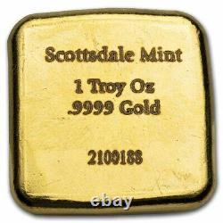 1 oz Gold Bar Hand Stamped Lion SKU#229030