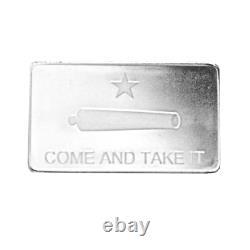 10 oz DGSE. 999 AG Silver Bar Cannon Symbol Stamped