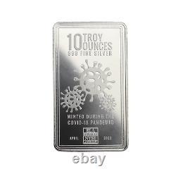 10 oz Envela. 999 AG Silver Bar CV Symbol Stamped April Edition