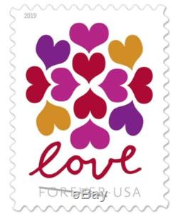 1000 USPS (50 Panes OF 20) Forever Postage Love Hearts Stamps Blossom # 5339
