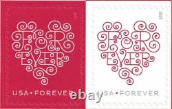 1000 USPS Forever Hearts Forever Stamps 50 Panes of 20