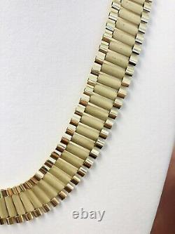 10k Yellow Gold Mens Wide Rolex Link Style Chain Necklace 85.7 Grams 26 20 MM