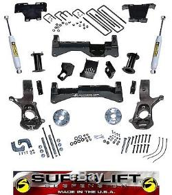 14-2017 GM 1500 8 Lift Kit SuperLift K899 Aluminum or Stamped Steel Control Arm