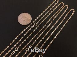 14 k Solid Yellow Gold 2.05mm Stamped Mariner Chain Necklace 16,18,20,22,24