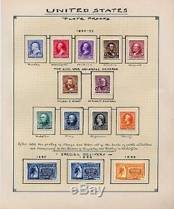 1847-1894 US Stamp Proof Collection nearly complete on handmade pages. Scarce