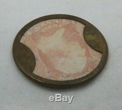 1862 Washington 3 cents Encased Postage Stamp-Token Ayers Sarsaparilla (T1371)