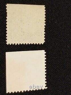 1908 B Franklin 1 Cent / 1 G Washington 3 cent stamps with unperforated Errors