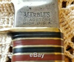 1911 Vintage Large Marble's Stamp Rare 7 Bowie Stag 24 Spacers MSA Marble EXC