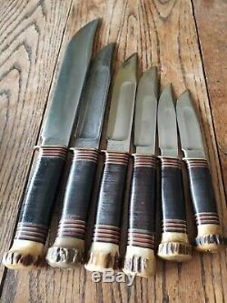 1911 Vintage Set of 6 Canoe, Trailmaker, Ideals 1st Marbles Stamp & Case MSA CO