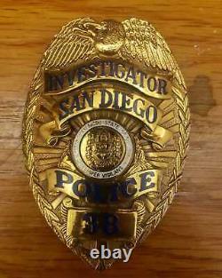 1930's Antique, San Diego District Attorney Investigador. Hallmark L. A. Stamp