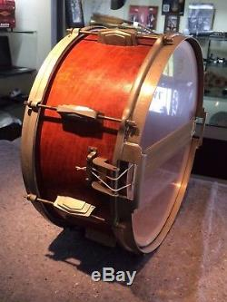 1940 Ludwig Ludwig Standard Vintage Snare Drum Stamped Oval Badge 5.5x14 Wood