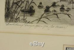 1962 Edward Morris Federal Duck Stamp & Etching Pencil Signed PINTAILS C Bartels