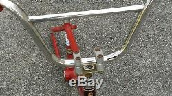 1981 Mongoose Old School BMX Bike Gold Stem Stainless Bars Stamped Seat Clamp