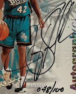 1997 98 Skybox Autographics Century Marks 48/100 Jerry Stackhouse Auto Rare