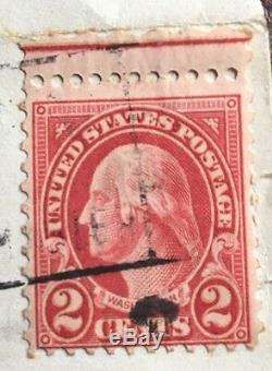 2 Cent George Washington Stamp 1937 Good Condition All Perfs Red Line Discounted