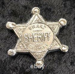 2 Troy Oz. MK BarZ Grand County Sheriff Stamped Star. 999 FS