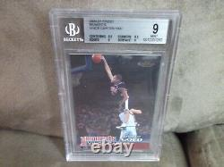 2000-01 TOPPS FINEST MOMENTS VINCE CARTER BGS 9 MINT With9.5 CENTERING RARE /1000