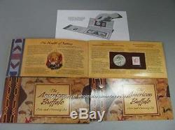 2001 American Buffalo Silver Stamp Coin & Currency Set
