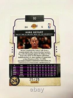 2010 Panini Classics Kobe Bryant On Card Auto Platinum 25/25 Last 1 Stamped= 1/1