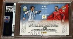 2014 Prizm World Cup Cristiano Ronaldo Lionel Messi Matchups PURPLE # /99 PSA 9