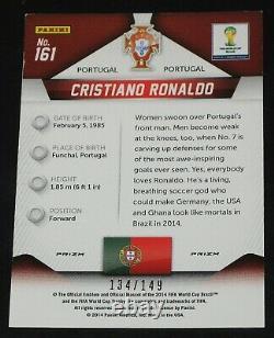 2014 Prizm World Cup Cristiano Ronaldo RED # 134/149 Base # 161 Portugal CR7