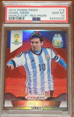 2014 Prizm World Cup Lionel Messi Red # /149 PSA 10 Gem Mint POP 4 Argentina #12