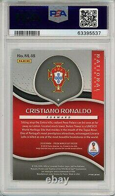 2018 Prizm World Cup Cristiano Ronaldo National Landmarks PSA Mint NL-18