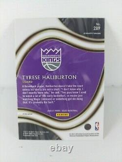 2020-21 Select Tyrese Haliburton Courtside RC Tiger Stripe SSP Sacramento Cards