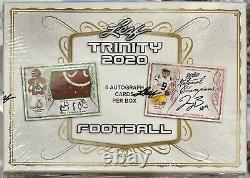 2020 Leaf Trinity Football Hobby Box! Look For Herbert, Burrow, Tua Patch Autos