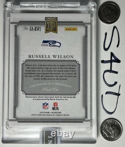 2020 Panini National Treasure Blockchain Russell Wilson NFL Logo Shield Auto 1/1