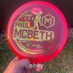 2021 Tour Series Disc Craft Luna Paul McBeth NEW, 173-174g, RARE Flower Stamp