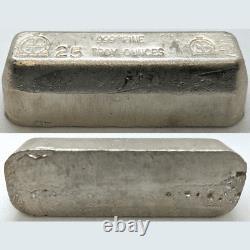 25.320 oz Silver Bar Omega M & B Mining. 999 Fine Vintage Stamped 25 troy oz ASW
