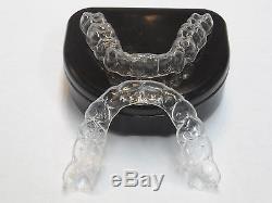 2Premium Essix Plus Custom Clear Dental Teeth Retainers Upper & Lower+Case