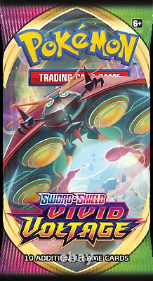 36 Vivid Voltage Booster Packs (Sleeved) Pokemon TCG Sword & Shield Box SWSH4