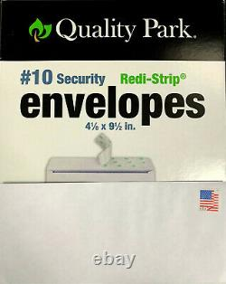 400 Authentic Forever Stamp Envelopes (White #10 Security Tinted Peel N Seal)