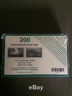 # 4123 Int. Polar Year U. S. Stamp Souvenir Sheet of 2 Sealed Pack Of 100 $168