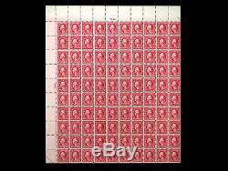 467 WASHINGTON 5¢ CARMINE DOUBLE ERROR 2cent US Stamp MNH Sheet RARE CV $4,140