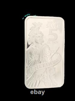 5 oz. 999 Silver AG Bar BU Freedom Symbol Stamped Sealed In Stock