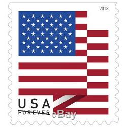 500 FOREVER STAMPS 5 rolls of 100 USPS Forever US Flag Stamp Coil