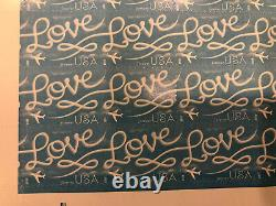 500 -USPS Love Skywriting Forever Stamps. Sheets of 20 Limited Time Sale Price