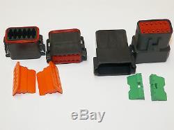 504 Pc Oem Black Deutsch Dt Connector Kit Stamped Terminals + Removal Tools