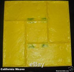 6 California Weave Decorative Concrete Cement Stamp Mat