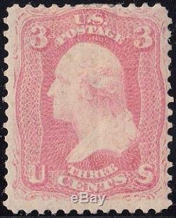 #64 3¢ Pink F-vf Og Lh Deep Rich Color Extremely Rare CV $14,000.00 Wl4976
