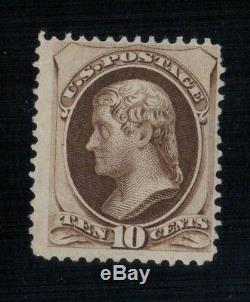 70%OFF US Stamp 1879 Scott 197 CV$45000 Mint, NGAI, DeepBrwn, SpecialPrint, 10c