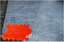 8 New Brick Herringbone Decorative Concrete Cement texture Stamps Mats Tools