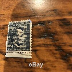 Abraham Lincoln 4 cent black stamp used