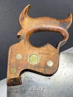 Antique Disston Saw #9 1850s Inch Worm Stamp H. Disston PHILA Eagle Medallion